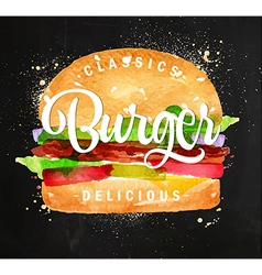 Burger chalk vector