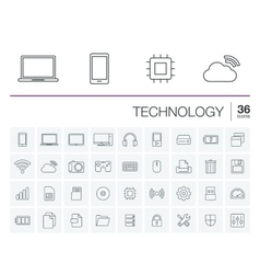 Digital technology icons vector