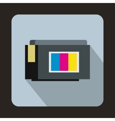Inkjet printer cartridge icon flat style vector