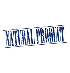 Natural product blue grunge vintage stamp isolated vector