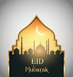 Eid mubarak landscape background vector