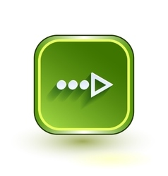 Green web button with arrow right sign rounded vector