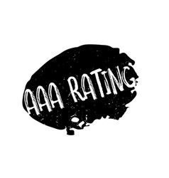 Aaa rating rubber stamp vector
