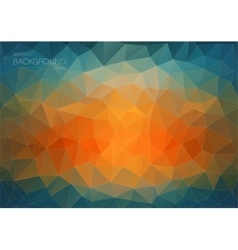 Abstract triangle backgound for web blue and vector