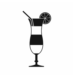 Cocktail with lemon icon simple style vector image vector image