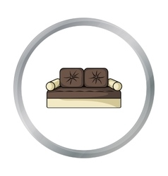Couch icon in cartoon style isolated on white vector image