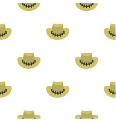 Cowboy hat pattern seamless vector