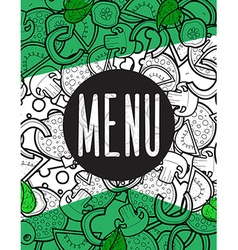 Design menu background doodle of pizza with vector image vector image