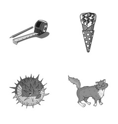 food breed and other monochrome icon in cartoon vector image vector image