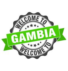 Gambia round ribbon seal vector