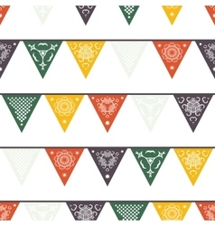 Hanging traditional mexican banners flags vector