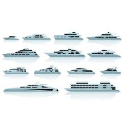 Luxury motor yachts vector