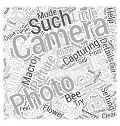 Macro mode word cloud concept vector
