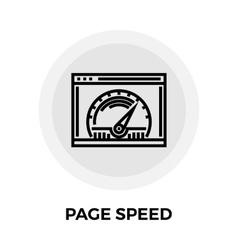 Page Speed Line Icon vector image vector image