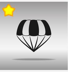 parachute black icon button logo symbol vector image