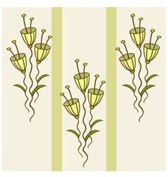 pattern of delicate flowers vector image