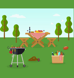 picnic bbq party outdoor recreation vector image