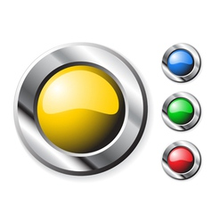 round colorful buttons vector image vector image