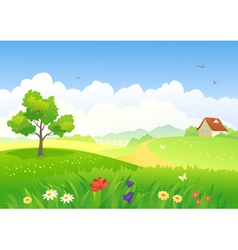 Rural scene vector