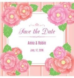 Save the date floral wedding invitation with briar vector image vector image