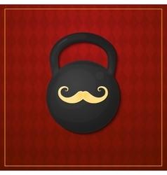 Strongman logo circus design vector