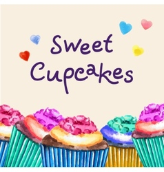 Sweet cupcakes vector