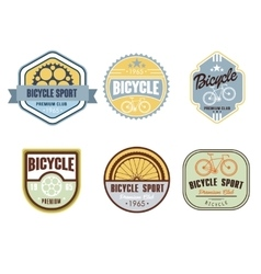Typographic bicycle themed label design set - bike vector