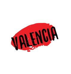 Valencia rubber stamp vector