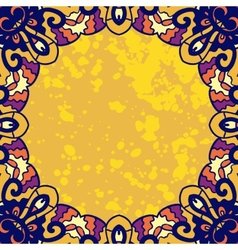Vintage ornament round frame for text Stylized vector image vector image