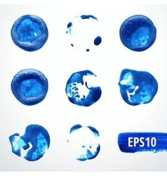 Watercolor blots set 1 vector