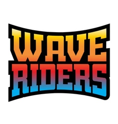 Wave riders t shirt typography graphics rainbow vector image vector image