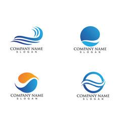 waves beach logo and symbols vector image vector image