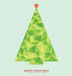 Abstract christmas tree from crystal graph vector