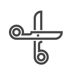 Scissors thin line icon vector