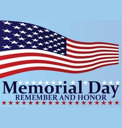 Memorial day poster vector