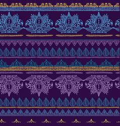 Mehendy flower seamless pattern design tracery vector