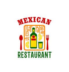 Icon for mexican food restaurant menu vector