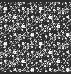 Black and white flowers pattern seamless pattern vector