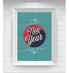 new year folded vector image