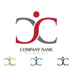 C letter logo template icon design vector