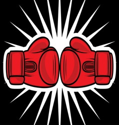 boxing gloves2 vector image