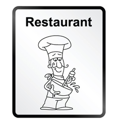 Restaurant information sign vector