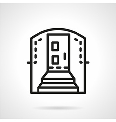 Housing entrance simple line icon vector