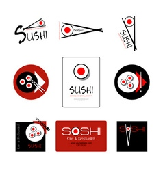 Template of identity for sushi restaurant and bar vector