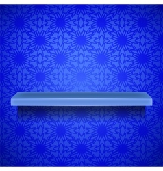 Emty blue shelf vector