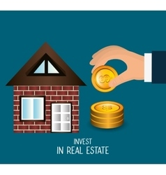 Real estate business investment vector
