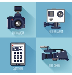Modern technologies professional photo and video vector