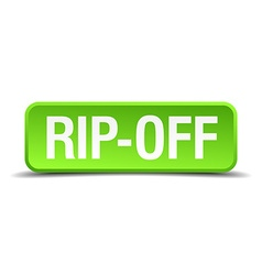Rip-off green 3d realistic square isolated button vector