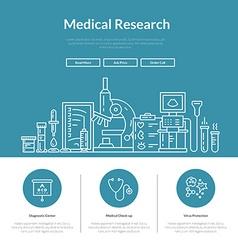 Medical web page vector