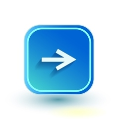 Blue web button with arrow right sign rounded vector